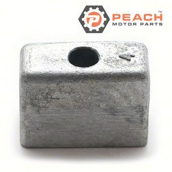 Peach Motor Parts PM-3B7602181M Anode, Powerhead & Transom Bracket Zinc; Replaces Nissan Tohatsu®: 3B7602181M, 3B7602182M, 3B7602180M, 3B760-2180, 3B7-60218-1, 3B7602181; PM-3B7602181M