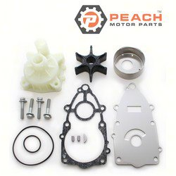 Peach Motor Parts PM-60X-W0078-00-WH Water Pump Repair Kit (With Housing); Replaces Yamaha®: Kit 60X-W0078-00-00 + Housing (61A-44311-01-00, 61A-44311-00-00, 6E5-44311-00-00), Sierra®: 18-3522-