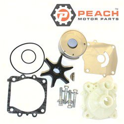 Peach Motor Parts PM-61A-W0078-A3-WH Water Pump Repair Kit (With Housing); Replaces Sierra®: 18-3396, 18-3396-1, Yamaha®: (61A-W0078-A2-00 + 61A-44311-01-00), (61A-W0078-A2-00 + 61A-44311-01-00
