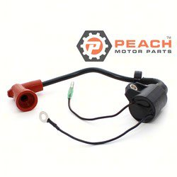 Peach Motor Parts PM-61N-85570-10-00 Ignition Coil (With Spark Plug Boot); Replaces Yamaha®: 61N-85570-10-00, 61N-85570-00-00, 63V-85570-00-00, Sierra®: 18-5113; PM-61N-85570-10-00