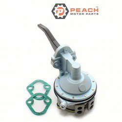 Peach Motor Parts PM-62092T Fuel Pump, Mechanical; Replaces Mercruiser®: 62092T, 62092, 54552, Mercury Marine®: 62092T, OMC®: 982063, 0982063, Sierra®: 18-7267, GLM®: 77040, Mallory®: 9-35411,