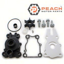 Peach Motor Parts PM-63D-W0078-01-WH Water Pump Repair Kit (With Housing); Replaces Yamaha®: Kit (63D-W0078-01-00, 63D-W0078-00-00) + Housing 63D-44311-00-00, Sierra®: 18-3415