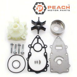 Peach Motor Parts PM-65N-W0078-A1-WH Water Pump Repair Kit (With Housing); Replaces Yamaha®: Kit (65N-W0078-A1-00, 65N-W0078-A0-00)+ Housing (61A-44311-01-00, 61A-44311-00-00, 6E5-44311-00-00),; PM-65N-W0078-A1-WH