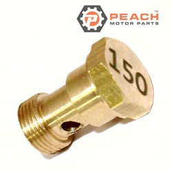 Peach Motor Parts PM-677-14343-75-00 Jet, Main (#150); Replaces Yamaha®: 677-14343-75-00, Makara Outboards®: T36-04000310
