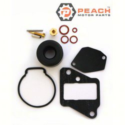 Peach Motor Parts PM-677-W0093-00-00 Carburetor Repair Kit (For single carburetor); Replaces Yamaha®: 677-W0093-04-00, 677-W0093-00-00