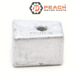 Peach Motor Parts PM-67C-45251-00-00 Anode, Lower Unit Gearcase Aluminum; Replaces Yamaha®: 67C-45251-00-00, 63D-45251-10-00, Martyr®: CM67C4525100A, GLM®: 26677; PM-67C-45251-00-00