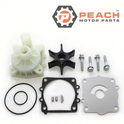 Peach Motor Parts PM-68V-W0078-00-WH Water Pump Repair Kit (With Housing); Replaces Yamaha®: Kit 68V-W0078-00-00 + Housing (61A-44311-01-00, 61A-44311-00-00, 6E5-44311-00-00), Sierra®: 18-3523-; PM-68V-W0078-00-WH