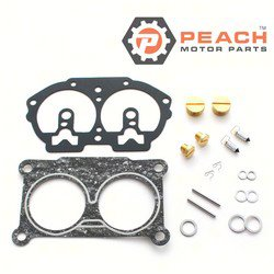 Peach Motor Parts PM-6E5-W0093-09-00 Carburetor Repair Kit (For single carburetor); Replaces Yamaha®: 6E5-W0093-09-00, 6N6-W0093-08-00, 6E5-W0093-07-00, 6N6-W0093-09-00, 6N6-W0093-07-00