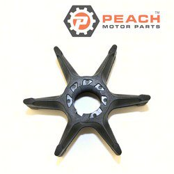 Peach Motor Parts PM-6F5-44352-00-00 Impeller, Water Pump (Neoprene); Replaces Yamaha®: 6F5-44352-00-00, Mercury Marine®: 47-83397M, 47-99971M, Sierra®: 18-3088, Mallory®: 9-45606, CEF®: 500352; PM-6F5-44352-00-00
