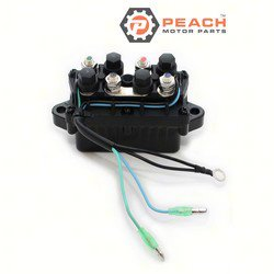 Peach Motor Parts PM-6H1-81950-01-00 Relay, Power Trim Tilt; Replaces Yamaha®: 6H1-81950-01-00, 6H1-81950-00-00, WSM®: 343-505; PM-6H1-81950-01-00