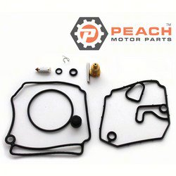 Peach Motor Parts PM-6H2-W0093-10-00 Carburetor Repair Kit (For single carburetor); Replaces Yamaha®: 6H2-W0093-10-00, WSM®: 600-57