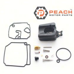 Peach Motor Parts PM-6H4-W0093-03-00 Carburetor Repair Kit (For single carburetor); Replaces Yamaha®: 6H4-W0093-03-00, 6H4-W0093-02-00, Sierra®: 18-7768, Mallory®: 9-37503, WSM®: 600-86