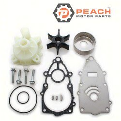 Peach Motor Parts PM-6P2-W0078-00-WH Water Pump Repair Kit (With Housing); Replaces Yamaha®: Kit 6P2-W0078-00-00+ Housing (61A-44311-01-00, 61A-44311-00-00, 6E5-44311-00-00); PM-6P2-W0078-00-WH