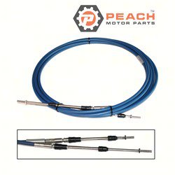 Peach Motor Parts PM-701-48320-20-00 Throttle Shift Cable, Remote Control 20 Ft; Replaces Yamaha®: MAR-CABLE-20-SC, Teleflex®: CCX63320, CC63320, CC17220, CC23020