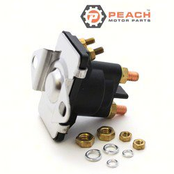 Peach Motor Parts PM-8918864T Solenoid, Starter & Trim (Stepped Base); Replaces Mercury Marine®: 89-818864T, 89-818864, 89-846070, 89-94318, 89-96158, 89-96158T, Sierra®: 18-5817, 18-5818, 18-5; PM-8918864T