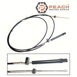 Peach Motor Parts PM-897977A10 Throttle Shift Cable, Remote Control 10 Ft; Replaces Mercury Marine®: 897977A10