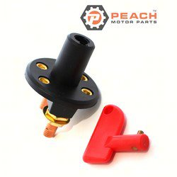 Peach Motor Parts PM-BATTERY-SWITCH-1C Switch, Boat Battery Isolation (Single On-Off); Replaces Sierra®: UN77310; PM-BATTERY-SWITCH-1C