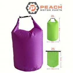 Peach Motor Parts PM-DryBag-20L-Purple Waterproof Bag, 20 Liter Purple Polyester (15 x 20 Inches Flat) Dry Bag; Replaces Quest®: Dry Bag, Geckobrands®: Dry Bag, SealLine®: Dry Bag, Field & Stre