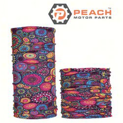 Peach Motor Parts PM-Gaiter-Circles1 Neck Gaiter Headwear Balaclava Bandana Scarf Face Shield Mask, Circles1; Replaces Buff®: Fishing, Outdoors, Under Armour®: Gaiter, Patagonia®: Neck Gaiter, ; PM-Gaiter-Circles1