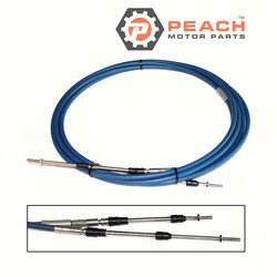 Peach Motor Parts PM-MAR-CABLE-21-SC Throttle Shift Cable, Remote Control 21 Ft; Replaces Yamaha®: MAR-CABLE-21-SC, 701-48350-00-00, ABA-CABLE-21-GY, MAR-CABLE-21-GY, Teleflex®: CCX63321, CC633