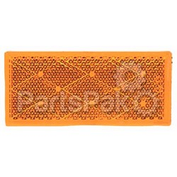 Anderson Marine E483A; Amber Reflector-Stick On-Pair