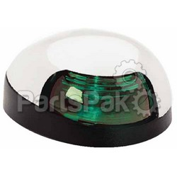 Attwood 3153G7; SideLight Green Lens Chrome Cover