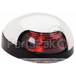 Attwood 3153R7; SideLight Red Lens Chrome Cvr