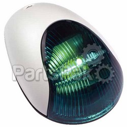 Attwood 3834G7; SideLight Green Vrt Mount White
