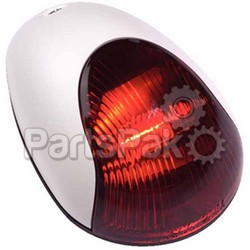 Attwood 3834R7; SideLight Red Vrt Mount White