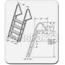 Tie Down Engineering 28274; Dock Ladder Galvanized 4 Step