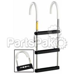 Garelick 06131; 3 Step Ss Telescp Hook Ladder-