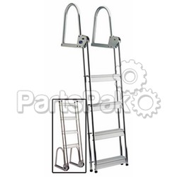 Garelick 15740; 4 Step Fold Dock Raft Ladder