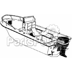 Carver Covers 70025P; Ccf-25 Poly Guard Boat Cover