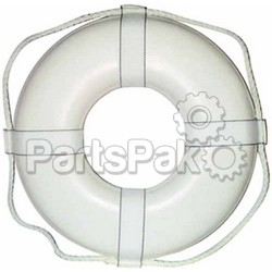 CAL JUNE JIM-BUOY G19; 19 White Ring Buoy W/Straps