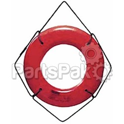 CAL JUNE JIM-BUOY HS24W; 24In White Hard Shell Ring Buo-