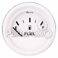 Faria 13101; Dress White Fuel Level Gauge