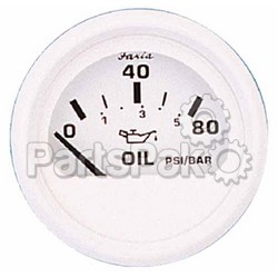 Faria 13102; Dress White Oil Press. Gauge