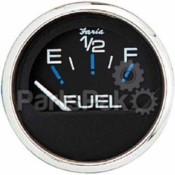 Faria 13701; Chesapeake Stainless Steel Black Fuel Level Gauge