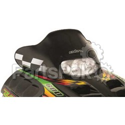 PowerMadd 10262010; Cobra Windshield Arctic Cat Zrt2 Bk / Wh Snowmobile