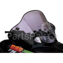 PowerMadd 10253010; Cobra Windshield Arctic Cat Smk / Blk Snowmobile