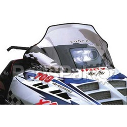 PowerMadd 10113010; Cobra Windshield Indy Black Snowmobile