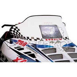 PowerMadd 10112013; Cobra Windshield Indy Wh / Blk Snowmobile