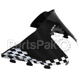 PowerMadd 10112010; Cobra Windshield Indy Blk / Wht Snowmobile
