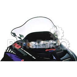 PowerMadd 10123010; Cobra Windshield Gen 2 Smk / Blk Snowmobile
