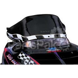 PowerMadd 10132010; Cobra Windshield Indy Black Snowmobile