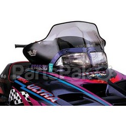 PowerMadd 10143010; Cobra Windshield Indy Smk / Blk Snowmobile