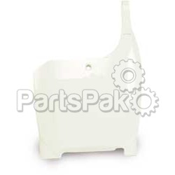 Acerbis 2042220002; Front Number Plate (White)
