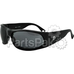 Bobster EZCA001C; California Sunglass Black Clear Lens Foam Padded