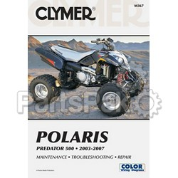 Clymer Manuals M367; Repair Manual, Clymer, Polaris Predator 03-07