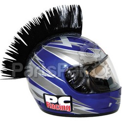 PC Racing PCHMBLACK; Helmet Mohawk (Black)